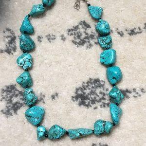 Turquoise Chunky Bead Necklace Bracelet